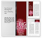 Technology, Science & Computers: Große datenwort wolke Word Vorlage #13135
