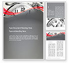 Consulting: Alarm Clock Theme Word Template #13138
