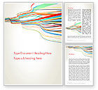 Abstract/Textures: Waving Colored Stripes Word Template #13147