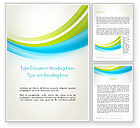 Abstract/Textures: Bright Green and Blue Waves Word Template #13158