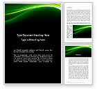 Abstract/Textures: Green Waves on Black Word Template #13159