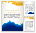 Art & Entertainment: Yellow and Blue Painting Word Template #13161