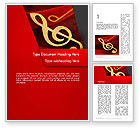 Art & Entertainment: Music Note Word Template #13164