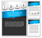 Business Concepts: Presenting an Idea Word Template #13165