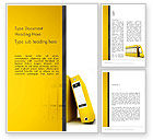 Business: Yellow Binders Word Template #13168