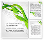Nature & Environment: Underwater Green Sprout Abstract Word Template #13171
