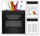 Art & Entertainment: Color Drops Word Template #13174