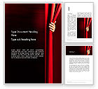 Art & Entertainment: Behind the Curtain Word Template #13178