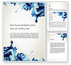Abstract/Textures: Inkt Daling Van Water Word Template #13180