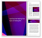 Abstract/Textures: Violet Rays Abstract Word Template #13182