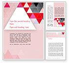 Abstract/Textures: 鲜艳的三角形摘要Word模板 #13189