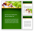 Food & Beverage: Food Supplements Word Template #13191