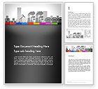 Utilities/Industrial: Industrial Silhouettes Word Template #13194