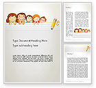 Education & Training: Back to School with Kids Word Template #13195