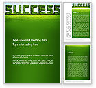 Business Concepts: Green Grass Word Success Word Template #13198