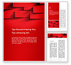 Abstract/Textures: Red Square Paper Cuts Abstract Word Template #13200
