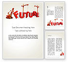 Education & Training: Making Future Word Template #13208