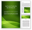 Abstract/Textures: Green Transparent Waves Word Template #13214