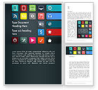 Careers/Industry: Flat Colorful Icons Word Template #13217