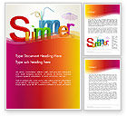 Holiday/Special Occasion: 3D Summer Party Word Template #13223