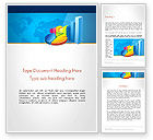 Business: Bar and Pie Charts on Word Map Word Template #13224