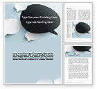 Business Concepts: Opposing Speech Bubbles Word Template #13232