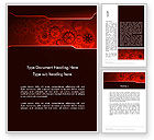 Business Concepts: Inside Red Clock Word Template #13236