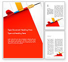 Business Concepts: Darts Hitting Target Word Template #13238