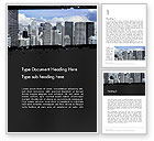 Construction: Business Skyscrapers Word Template #13242
