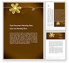 Nature & Environment: Brown Floral Word Template #13243