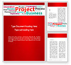 Education & Training: Project Word Cloud Word Template #13248