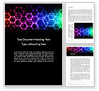 Abstract/Textures: Rainbow Hexagons Word Template #13251