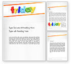 Holiday/Special Occasion: Friday Word Template #13252