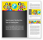 Business Concepts: Faces Around the Globe Word Template #13257