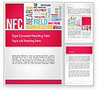 Telecommunication: NFC Word Cloud Word Template #13258
