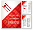 Food & Beverage: Tablecloth Decoration Illustration Word Template #13273
