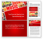Art & Entertainment: Music Word Cloud Word Template #13286