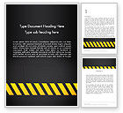 Construction: Under Construction Sign Word Template #13299