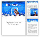 Business Concepts: Innovation Button Word Template #13321