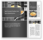 Business Concepts: Grid with Clock Faces Word Template #13325