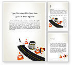 Construction: Road Construction Concept Word Template #13327