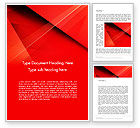 Abstract/Textures: Overlapping Red Layers Word Template #13339
