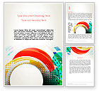 Art & Entertainment: Stir Colored Layers Abstract Word Template #13343