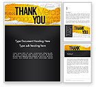 Education & Training: Thank You Collage Word Template #13348