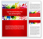 Art & Entertainment: Splashes of Watercolor Word Template #13353