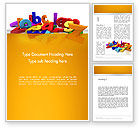 Education & Training: Colorful Letters Word Template #13354