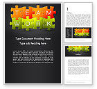 Careers/Industry: Teamwork Puzzle Word Template #13355