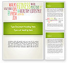Medical: Healthy Lifestyle Word Cloud Word Template #13362
