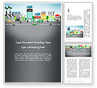 Nature & Environment: Nature Friendly Eco City Word Template #13367