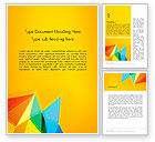 Abstract/Textures: Vivid Polygonal Background Word Template #13374
